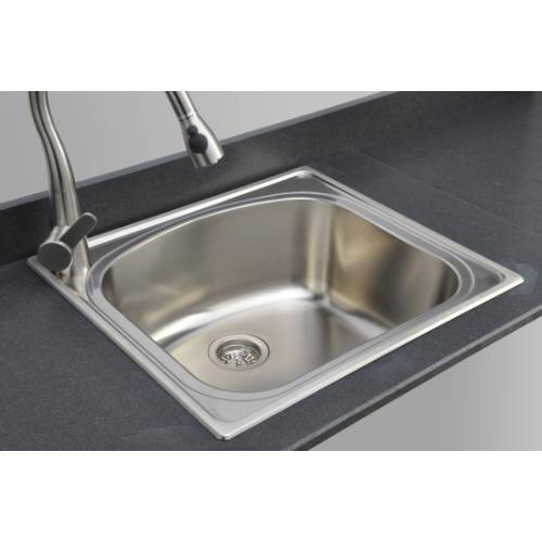 Wells Sinkware 18 Gauge Single Bowl Topmount Stainless Steel Kitchen Sink Package CHT2522-10L-1