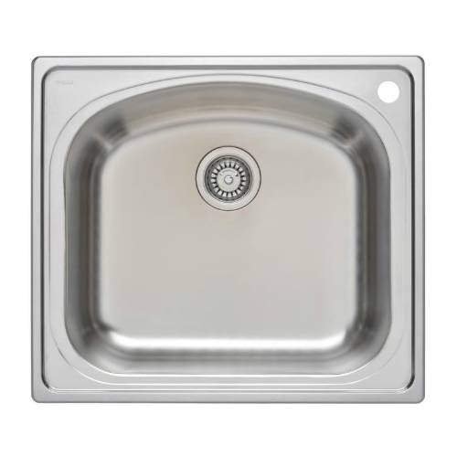 Wells Sinkware 18 Gauge Single Bowl Topmount Stainless Steel Kitchen Sink Package CHT2522-8R-1