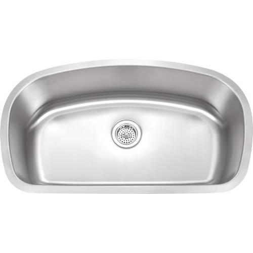 Wells Sinkware 18 Gauge Undermount Single Bowl Stainless Steel Kitchen Sink SSU3319-9