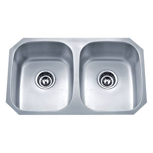 Wells Sinkware 18 Gauge Undermount Double Bowl Stainless Steel Kitchen Sink SSU3018-88