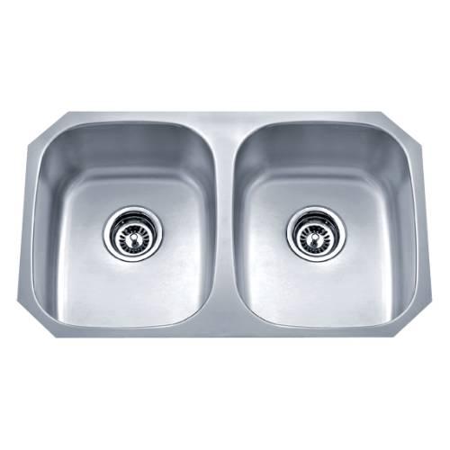Wells Sinkware 18 Gauge Undermount Double Bowl Stainless Steel Kitchen Sink SSU3018-88