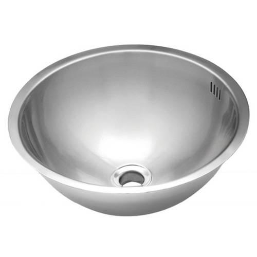 Wells Sinkware 20 Gauge Single Bowl Undermount Stainless Steel Kitchen/ Bar Sink Package JZU1717-7-1