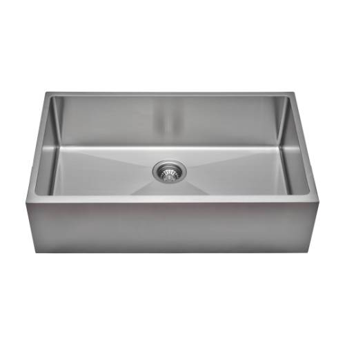Wells Sinkware Commercial Grade 16 Gauge Handcrafted Single Bowl Undermount Stainless Steel Kitchen Sink CSU3320-9-AP