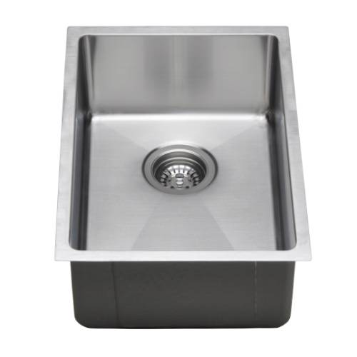 Wells Sinkware Commercial Grade 16 Gauge Handcrafted Single Bowl Undermount Stainless Steel Kitchen Sink Package CSU1420-7-1