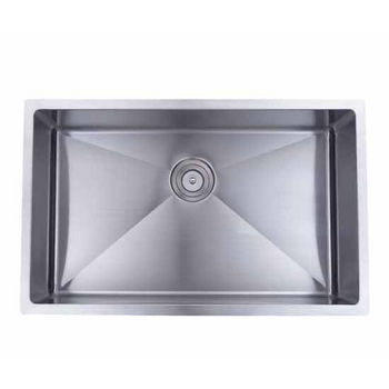Wells Sinkware Commercial Grade 16 Gauge Handcrafted Single Bowl Undermount Stainless Steel Kitchen Sink CSU3220-10