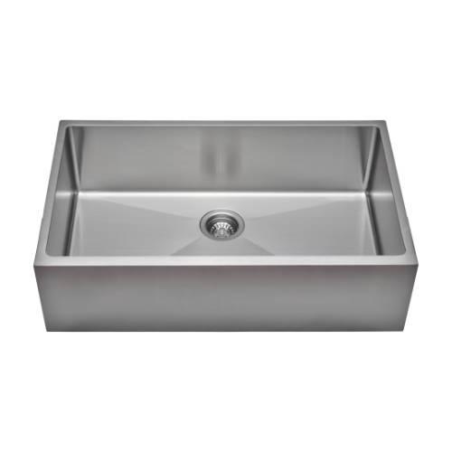 Wells Sinkware Commercial Grade 16 Gauge Handcrafted Single Bowl Undermount Stainless Steel Kitchen Sink Package CSU3320-9-AP-1