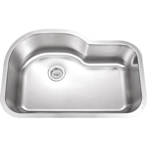 Wells Sinkware 18 Gauge Undermount Single Bowl Stainless Steel Kitchen Sink Package SSU3221-9-1