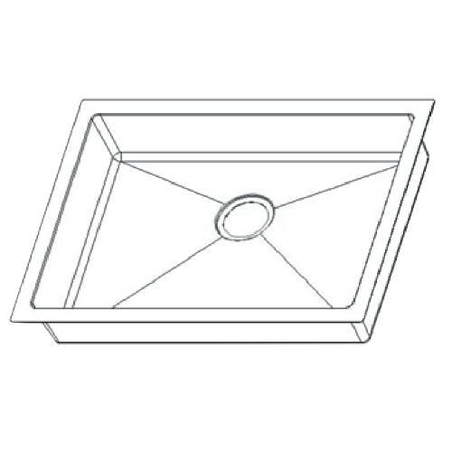 Wells Sinkware 18 Gauge ADA Handcrafted Undermount Single Bowl Stainless Steel Kitchen Sink Package SSU2318-45-1