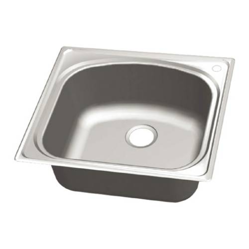 Wells Sinkware 18 Gauge Single Bowl Topmount Stainless Steel Kitchen Sink CHT2522-8R