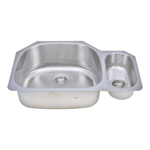 Wells Sinkware 18 Gauge 80/20 Double Bowl Undermount Stainless Steel Kitchen Sink CMU3221-95D