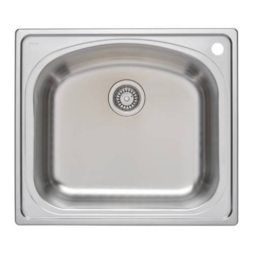 Wells Sinkware 18 Gauge Single Bowl Topmount Stainless Steel Kitchen Sink CHT2522-10R