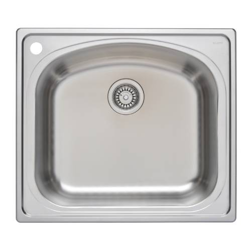 Wells Sinkware 18 Gauge Single Bowl Topmount Stainless Steel Kitchen Sink CHT2522-10L