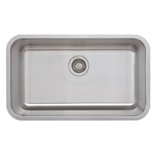 Wells Sinkware 18 Gauge Single Bowl Undermount Stainless Steel Kitchen Sink CMU3018-9