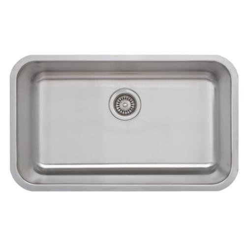 Wells Sinkware 18 Gauge Single Bowl Undermount Stainless Steel Kitchen Sink CMU3018-9