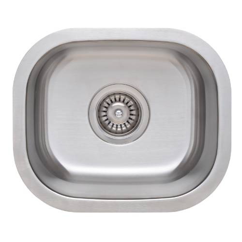 Wells Sinkware 18 Gauge Single Bowl Undermount Stainless Steel Kitchen Sink CMU1513-7