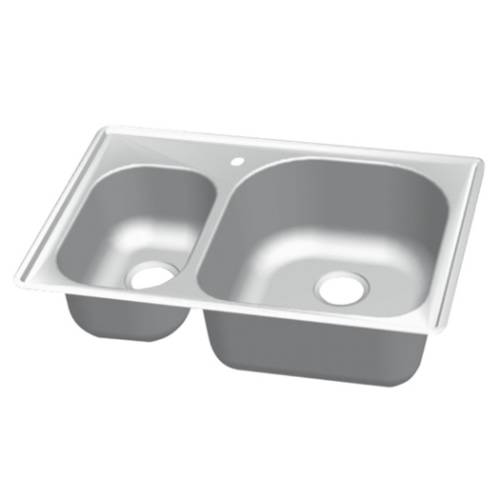 Wells Sinkware 18 Gauge 30/70 Double Bowl Topmount Stainless Steel Kitchen Sink CMT3322-79D
