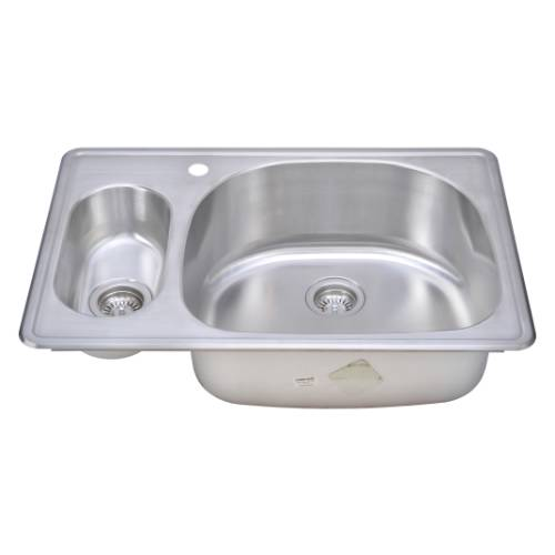Wells Sinkware 18 Gauge 20/80 Double Bowl Topmount Stainless Steel Kitchen Sink CMT3322-59D