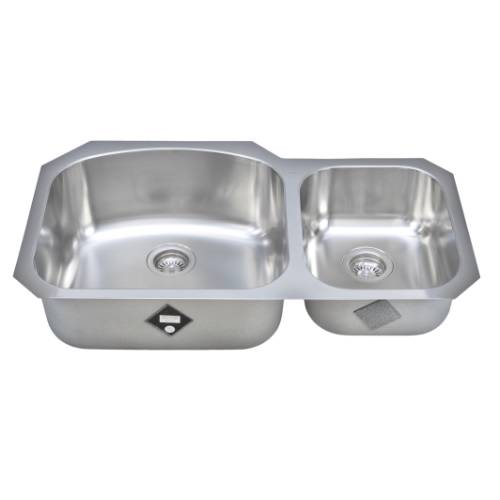 Wells Sinkware 17 Gauge Deck/ 18 Gauge Double Bowl Undermount Stainless Steel Kitchen Sink CHU3721-97