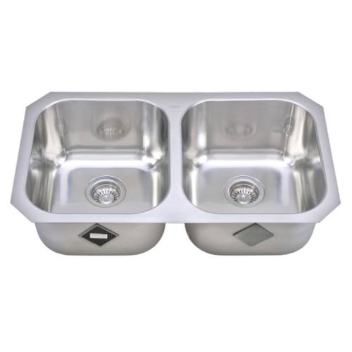 Wells Sinkware 17 Gauge Deck/ 18 Gauge Double Bowl Undermount Stainless Steel Kitchen Sink GLU3319-99