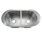 C-Tech-I Linea Amano Viano LI-1700 Double Bowl Stainless Steel Sink