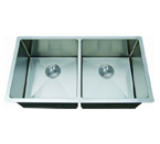 C-Tech-I Linea Amano Varsi LI-2000-R Double Bowl Stainless Steel Sink