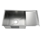 C-Tech-I Linea Amano Nogara LI-2100-DB Single Bowl Stainless Steel Sink