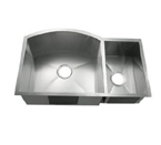 C-Tech-I Linea Amano Tesero LI-2200-B Double Bowl Stainless Steel Sink