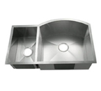 C-Tech-I Linea Amano Tesero LI-2200-BD Double Bowl Stainless Steel Sink