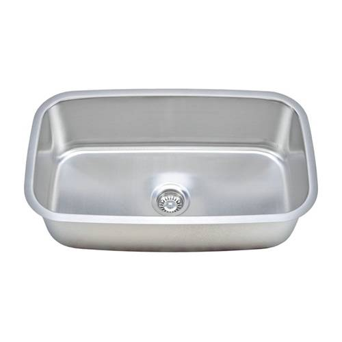 Wells Sinkware 18 Gauge Single Bowl Undermount Stainless Steel Kitchen Sink Package CMU3118-10-1