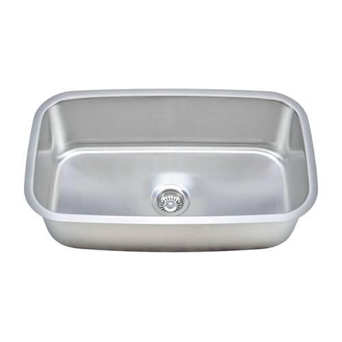 Wells Sinkware 18 Gauge Single Bowl Undermount Stainless Steel Kitchen Sink Package CMU3118-10-1