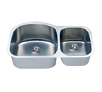 C-Tech-I Linea Imperiale Massilia LI-100 Double Bowl Stainless Steel Sink