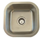 Alpha International U-102 Undermount Single Bowl Stainless Steel Sink