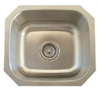 Alpha International U-103 Undermount Single Bowl Stainless Steel Sink