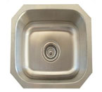 Alpha International U-109 Undermount Single Bowl Stainless Steel Sink