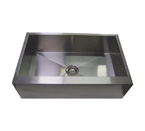 "30"" Stainless Steel Zero Radius Kitchen Sink Flat Apron Front WC12S003R5"