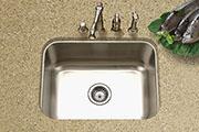 Houzer Medallion Single Bowl Undermount Stainless Steel Kitchen Sink MS-2309-20