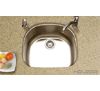 Houzer Medallion Classic Undermount Single Bowl MS-2409-20