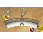 Houzer Contempo Trough Zero Radius Undermount Curved Trough Bar/Prep CTC-3312