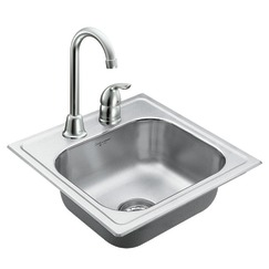 Moen 22240 Camelot Stainless Steel 20 Gauge single Bowl Drop In Kitchen Sink