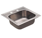 Moen 22241 Camelot Stainless Steel 20 Gauge Single Bowl Drop In Sink