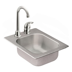 Moen 22245 Camelot Stainless Steel 20 Gauge Single Bowl Drop In Kitchen Sink
