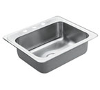 Moen 22831 Excalibur Stainless Steel 22 Gauge Single Bowl Drop In Sink***Discontinued***