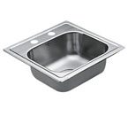 Moen 22851 Excalibur Stainless Steel 22 Gauge Single Bowl Drop In Sink***Discontinued***