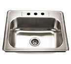 Alpha International D-231 Drop-In Single Bowl Stainless Steel Sink