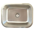 Alpha International U-231 Undermount Single Bowl Stainless Steel Sink