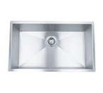 "23"" Stainless Steel Zero Radius Undermount Kitchen Sink WC12S2318"