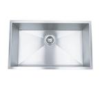 """23"""" Stainless Steel Zero Radius Undermount Kitchen Sink WC12S2318"""