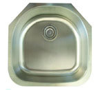 Alpha International U-234 Undermount Single Bowl Stainless Steel Sink