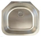 Alpha International U-235 Undermount Single Bowl Stainless Steel Sink