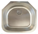 Alpha International U-236 Undermount Single Bowl Stainless Steel Sink